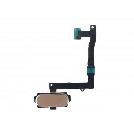 Nappe bouton home doré Samsung Galaxy S6 Edge +