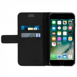 Etui cuir portefeuille iPhone 7 / iPhone 8 Noir