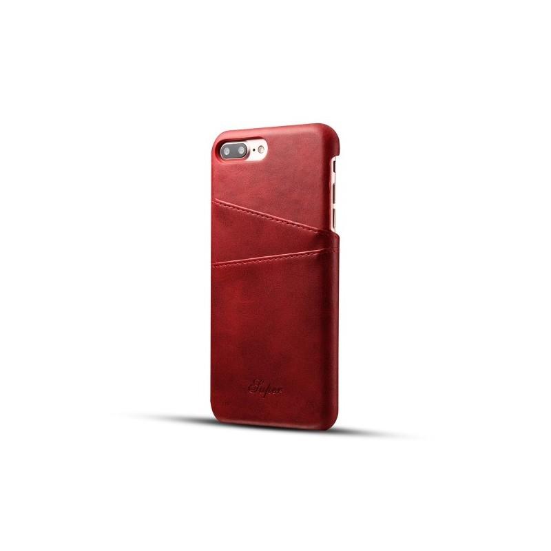 coque cuir iphone 7 plus rouge qualit premium tout. Black Bedroom Furniture Sets. Home Design Ideas