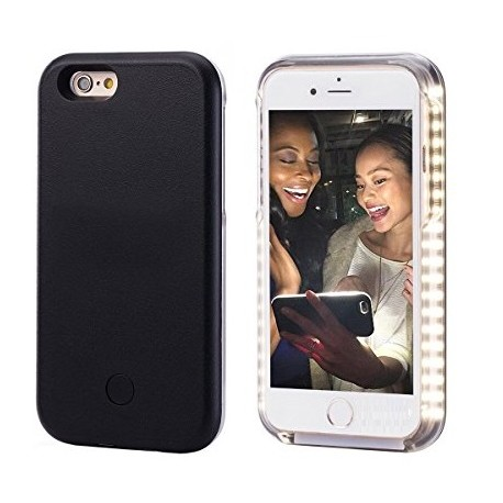 coque selfie lumineuse iphone 6 6s noir tout pour phone. Black Bedroom Furniture Sets. Home Design Ideas