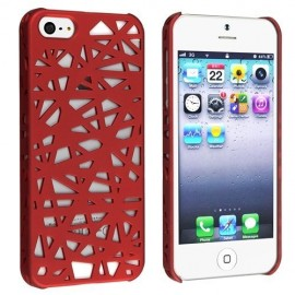 Coque Nid d'oiseau iPhone 5/5S Rouge