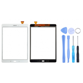 Vitre tactile Samsung Galaxy Tab A 9.7 Blanc (T550) + outils