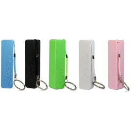 Batterie externe portative coloré 2600mAh avec packaging