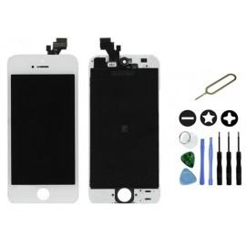 Vitre tactile blanche sur châssis iPhone 5 + Outils