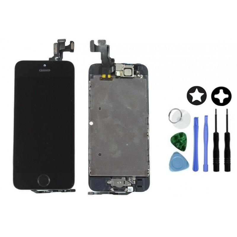 ecran complet de remplacement iphone 5s noir outils tout pour phone. Black Bedroom Furniture Sets. Home Design Ideas