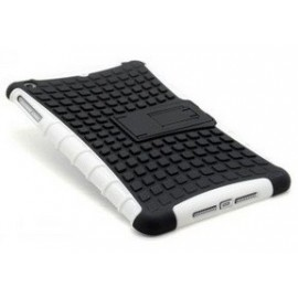 Housse silicone antichoc noire et blanche iPad mini 1/2/3