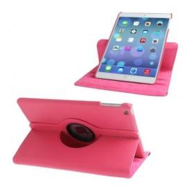 Etui cuir 360° iPad Air 2 Fushia