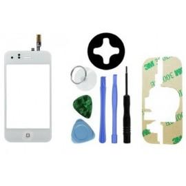 Vitre tactile blanche iPhone 3GS + scotch 3M et outils!