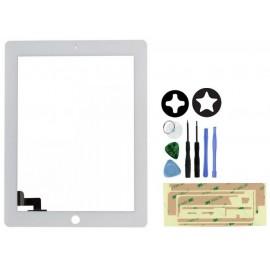 Vitre écran tactile blanc pour iPad 2 + outils