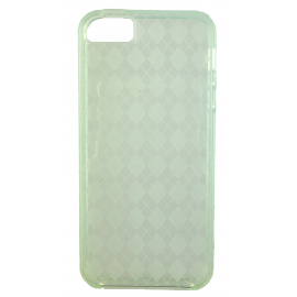 Coque silicone à carreaux iPhone 5/5S/SE