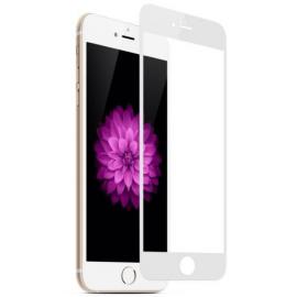 Film en verre trempé + contour intégral blanc iPhone 7 / iPhone 8