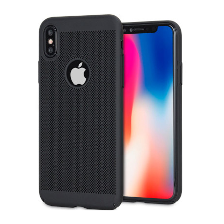 coque perforee noir iphone x