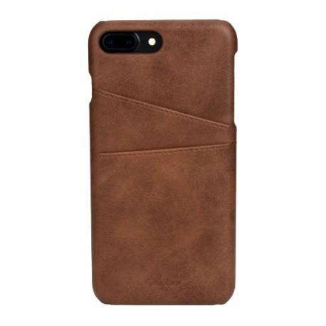 coque cuir iphone 7 plus iphone 8 plus marron
