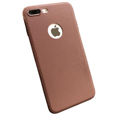Coque silicone grainé marron iPhone 7 Plus / iPhone 8 Plus