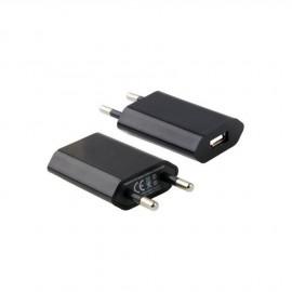Prise secteur USB Noir