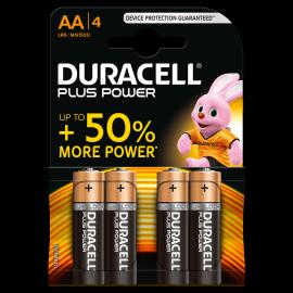 Lot de 4 piles AA Duracell