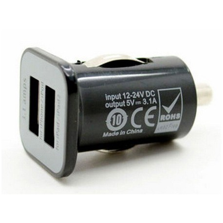 Adaptateur double USB Chargeur allume cigare iPhone