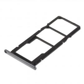 Double Tiroir SIM + SD Huawei Y6 (2018) Noir