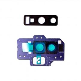 Contour + lentille caméra arrière Samsung Galaxy Note 9 Bleu Cobalt