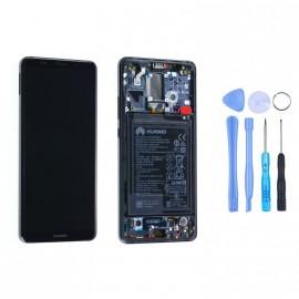 Ecran complet (châssis + batterie) Huawei Mate 10 Pro Gris d'origine