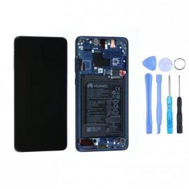 Ecran complet (châssis + batterie) Huawei Mate 20 Bleu d'origine