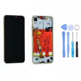 Ecran complet (châssis + batterie) Huawei P20 Lite Or d'origine Huawei + outils