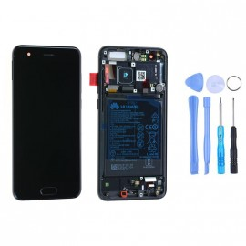 Ecran complet (châssis + batterie) Honor 9 Noir d'origine Huawei + outils