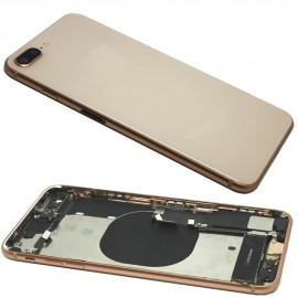 Coque arrière complète iPhone 8 Plus Or