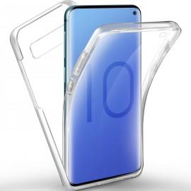 Coque intégrale silicone transparente Galaxy S10