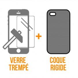 Coque rigide + verre trempé iPhone 11 Pro Max