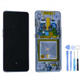Ecran complet d'origine Samsung Galaxy A80 Argent + outils