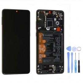 Ecran complet (châssis + batterie) d'origine Huawei P30 Noir + outils
