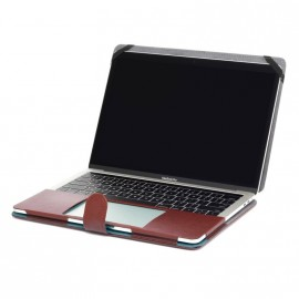 "Housse MacBook Pro 13"" simili cuir marron"