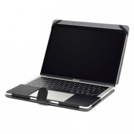 "Housse MacBook 13"" simili cuir noir"