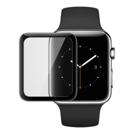 Film verre trempé incurvé contour noir Apple Watch Série 4 / 5 44 mm