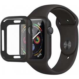 Bumper noir silicone Apple Watch Série 5 40 mm