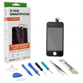 Kit complet réparation écran iPhone 4 Noir