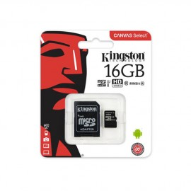 Carte mémoire Micro SD 16Go + adaptateur Kingston