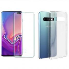 Coque silicone + verre trempé Samsung Galaxy S10