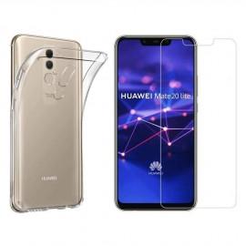 Coque silicone + verre trempé Huawei Mate 20 Lite
