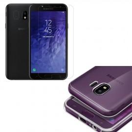 Coque silicone + verre trempé Samsung Galaxy J4 (2018)