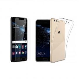 Coque silicone + verre trempé Huawei P10 Plus