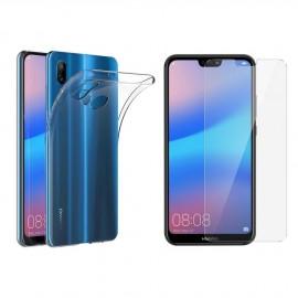 Coque silicone + verre trempé Huawei P20 Lite