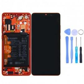 Ecran complet (châssis + batterie) d'origine Huawei P30 Pro Ambre Sunrise + outils
