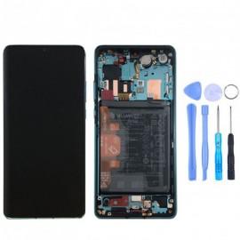 Ecran complet (châssis + batterie) d'origine Huawei P30 Pro Bleu Aurore + outils