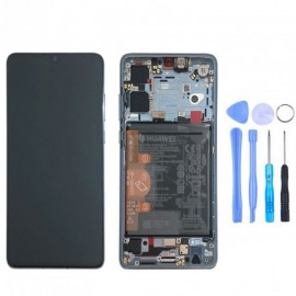 Ecran complet (châssis + batterie) d'origine Huawei P30 Breathing crystal + outils