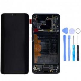 Ecran complet (châssis + batterie) d'origine Huawei Mate 20 Pro Noir + outils