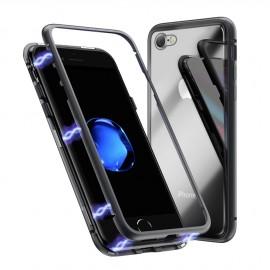 Coque intégrale magnétique noire iPhone 7 / iPhone 8