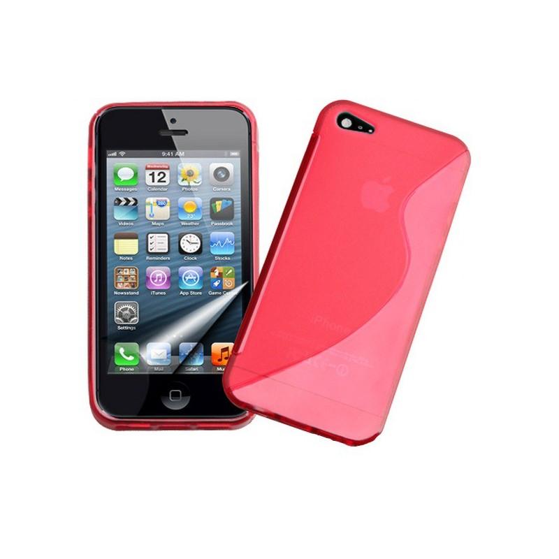 housse en silicone rouge pas cher iphone 5 5s se tout pour phone. Black Bedroom Furniture Sets. Home Design Ideas