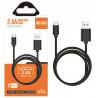 Câble micro USB Noir 1,2m - IDUSD